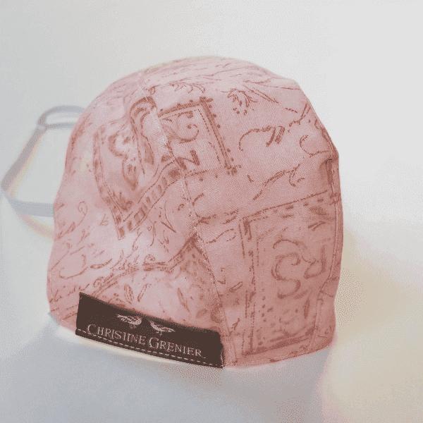 Masque de coton à motifs délicats rose